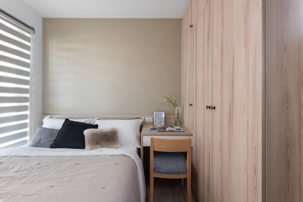 淺培北歐:  臥室 by 寓子設計