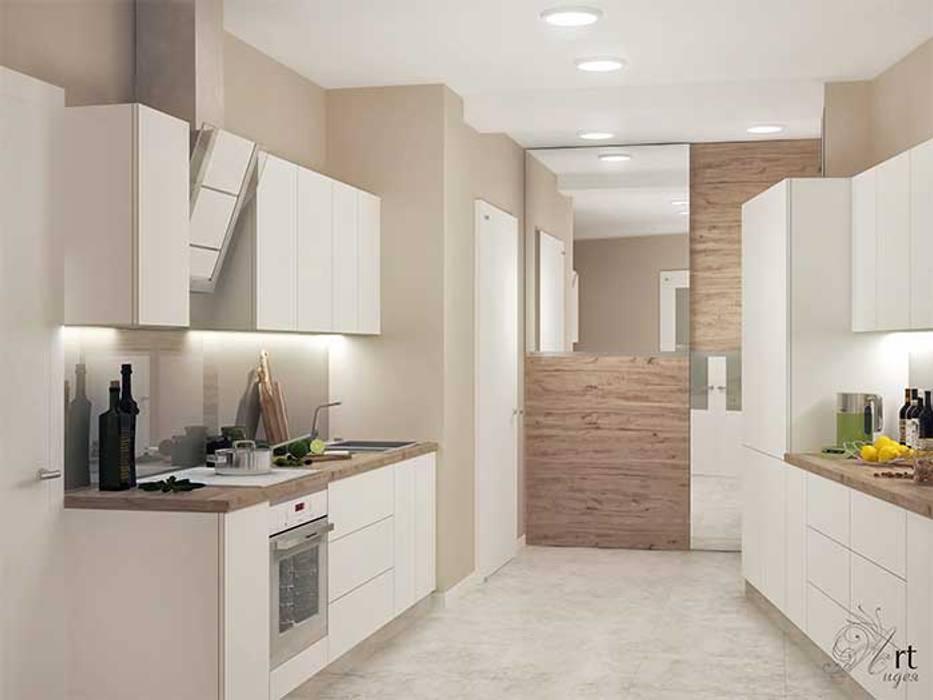 Кухня маленькая- белого цвета: Кухни в . Автор – Арт-Идея