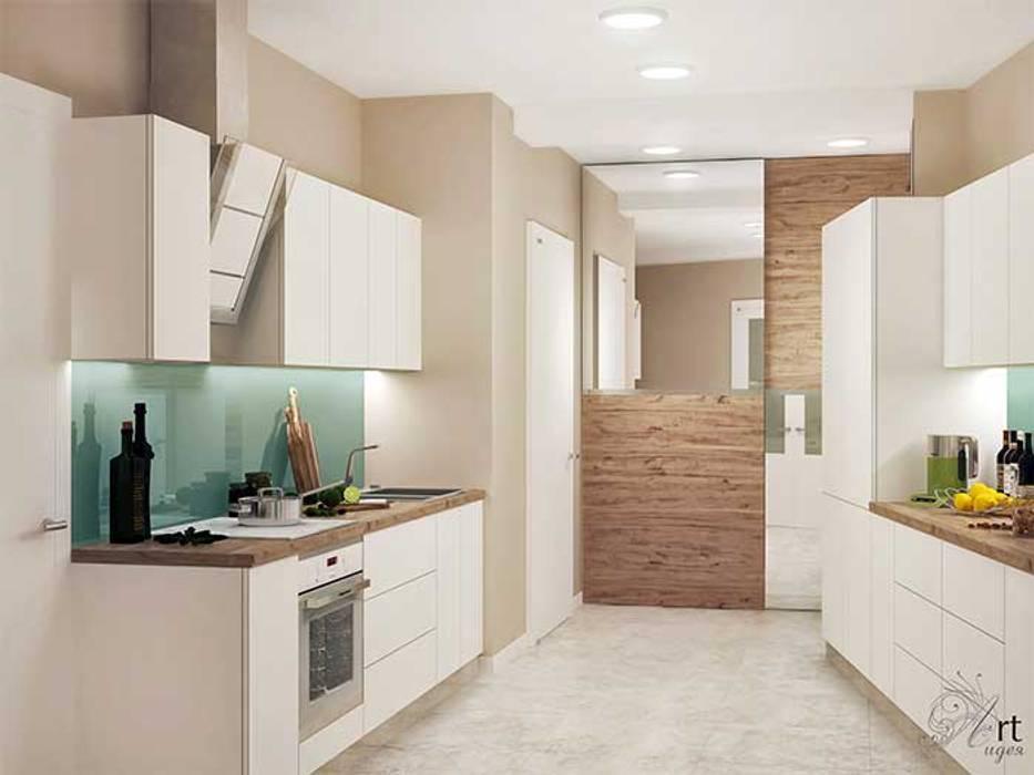 дизайн кухни белой: Кухни в . Автор – Арт-Идея