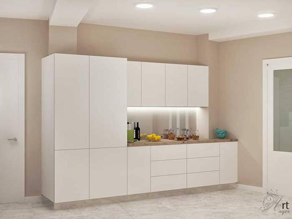 кухня белая маленькая: Кухни в . Автор – Арт-Идея