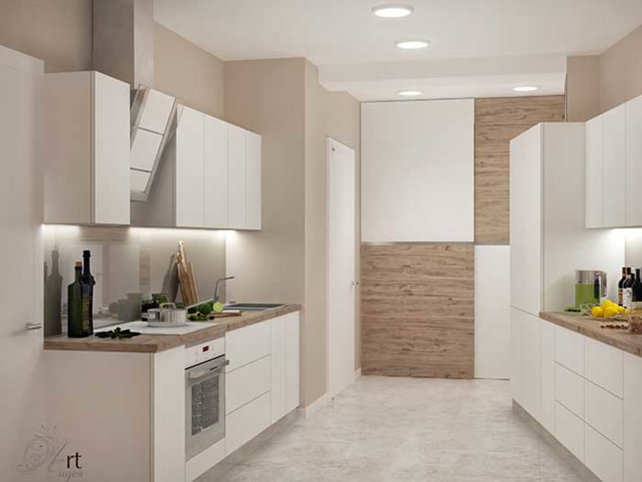 кухня белая: Кухни в . Автор – Арт-Идея