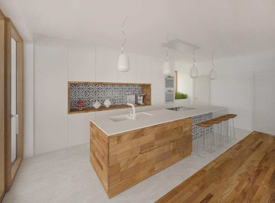 HAUS IN WIEN 14:  Küche von AL ARCHITEKT -  in Wien,Modern