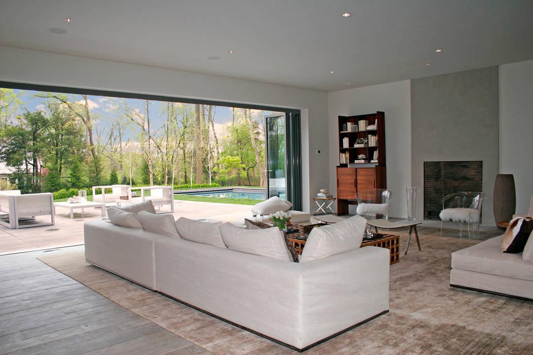 Plunkett Place Modern living room by andretchelistcheffarchitects Modern