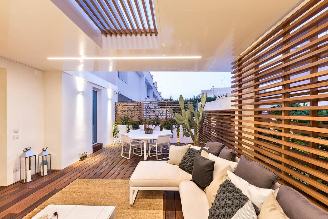 Giardino Dinverno In Casa : Restayling spazi esterni casa a schiera giardino d inverno in