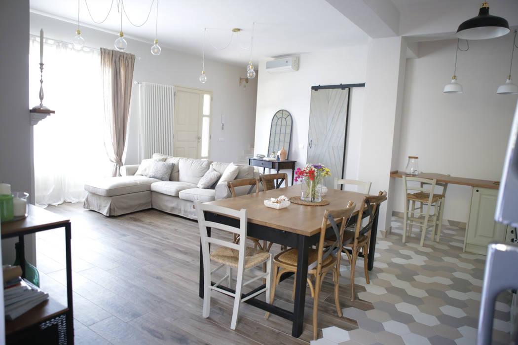 Sala Da Pranzo Shabby : Villa mq stile industrial shabby sala da pranzo in stile in