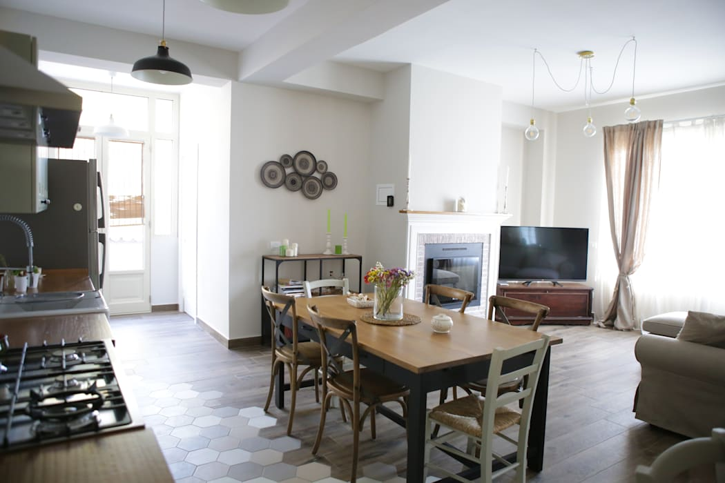 Villa 130mq Stile Industrial Shabby T C Interior Design Sala Da Pranzo In Stile Industriale Homify