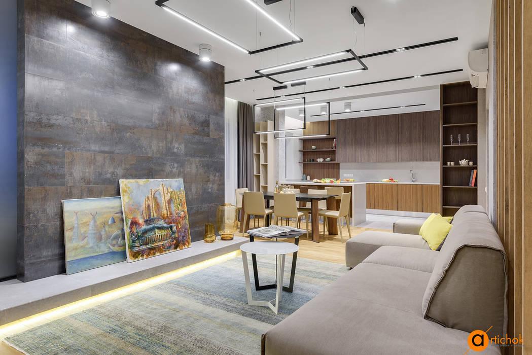 Гостиная в стиле loft и contemporary: Гостиная в . Автор – Art-i-Chok