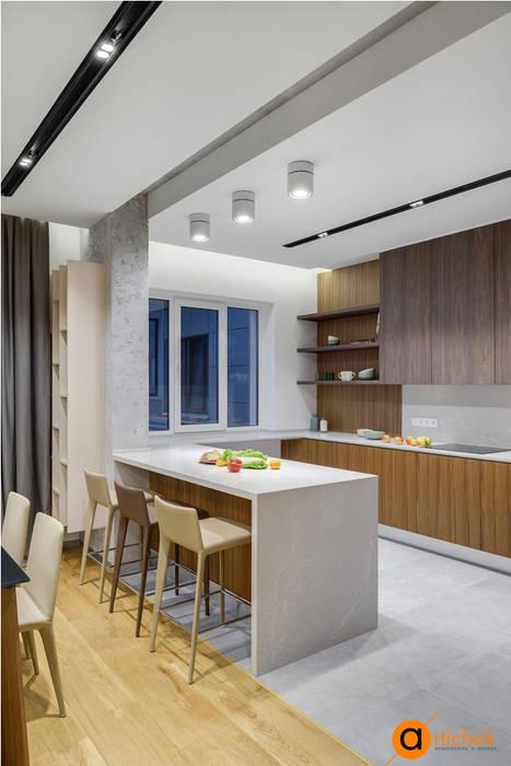 Функциональный дизайн небольшой кухни Artichok Design Кухня в стиле лофт