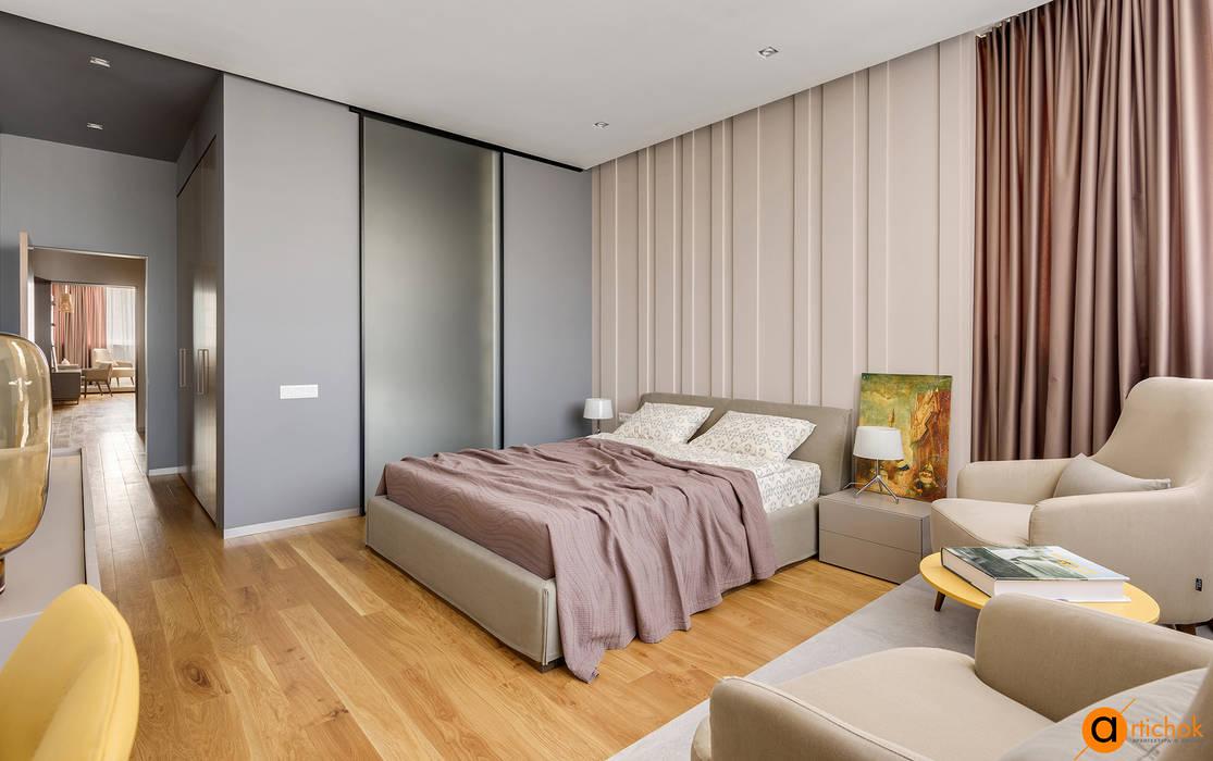 Dormitorios de estilo industrial de Artichok Design Industrial