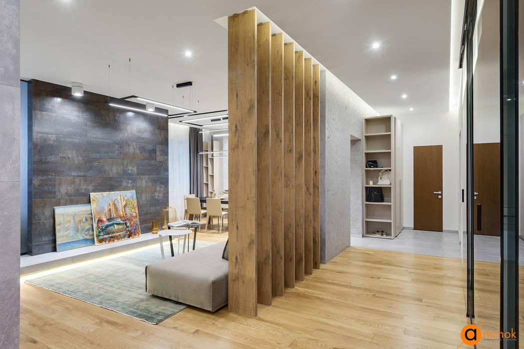 Зонирование квартиры в стиле лофт и contemporary: Гостиная в . Автор – Art-i-Chok