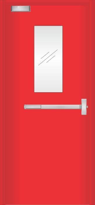 pintu emergency PT. Golden Prima Sentosa Pintu Besi/Baja Red