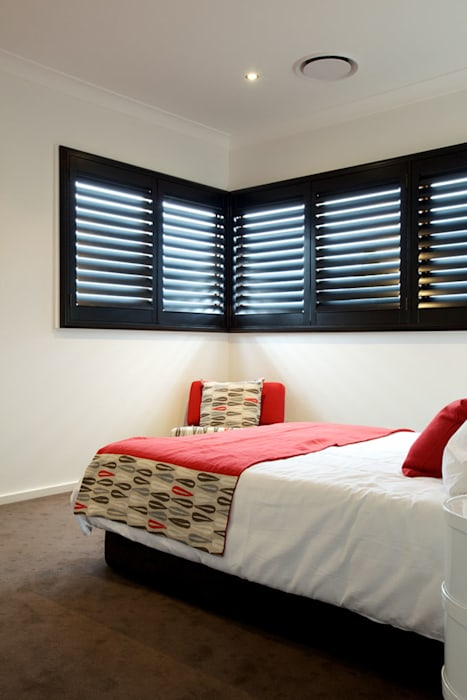 Bedroom Plantation Shutters Bedroom By Two Australia Homify