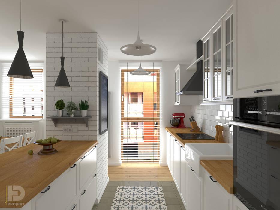 ZEN GARDEN - Mieszkanie 68 m2: styl , w kategorii Aneks kuchenny zaprojektowany przez HD PROJEKT