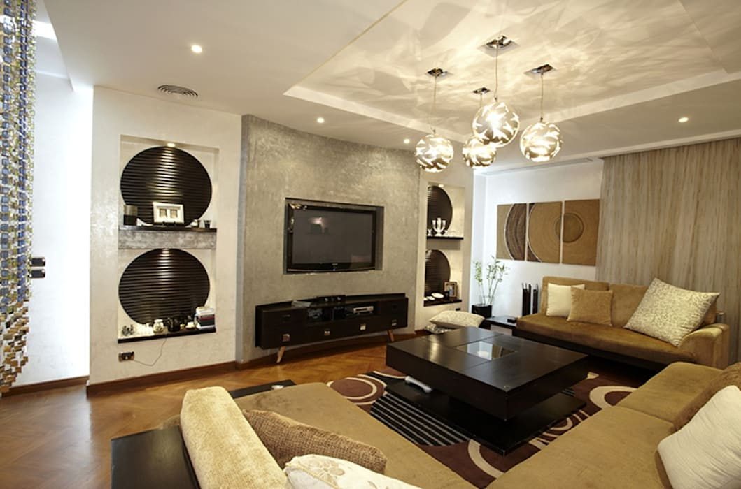 Salas multimedia de estilo moderno de Hazem Hassan Designs Moderno