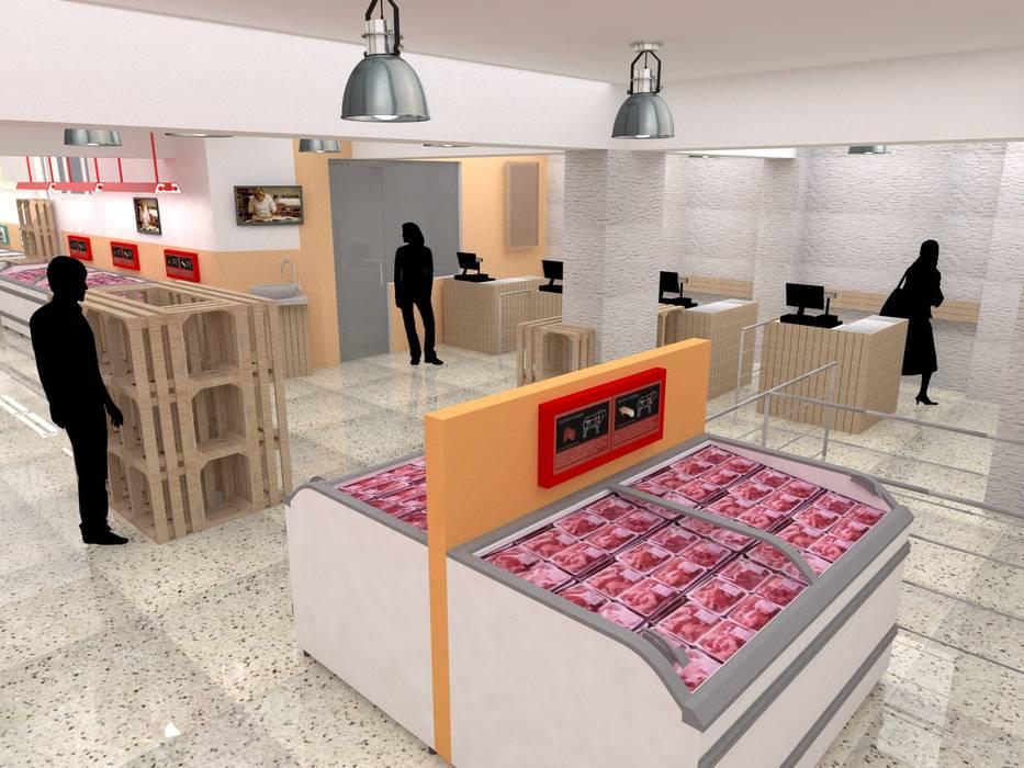 Espacios comerciales de estilo moderno de TRIBU ESTUDIO CREATIVO Moderno