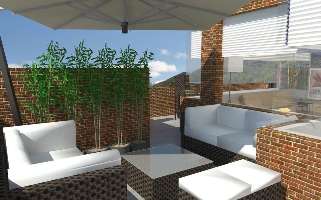 PH 513 Balcones y terrazas de estilo moderno de TRIBU ESTUDIO CREATIVO Moderno