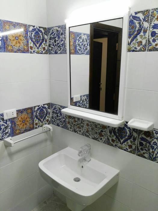 حمام صغير:  حمام تنفيذ TRK Architecture, حداثي سيراميك