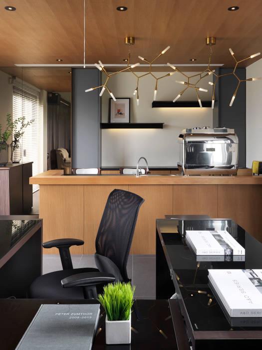 和風デザインの 書斎 の 夏沐森山設計整合 和風