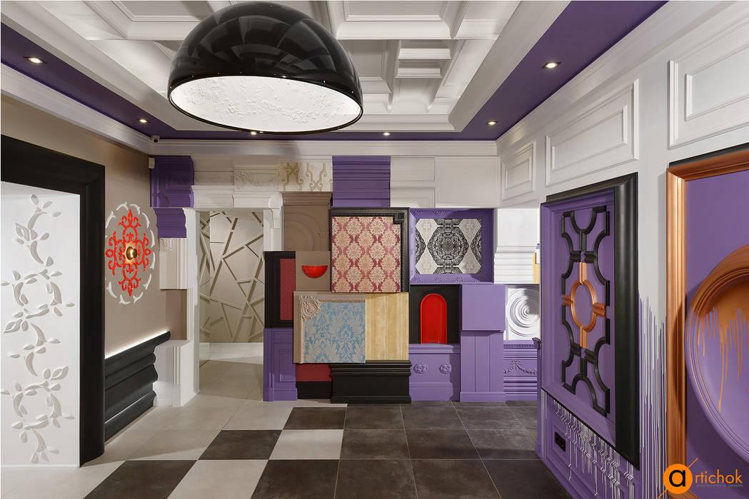 Дизайнерское оформление залов шоурума: Коммерческие помещения в . Автор – Art-i-Chok