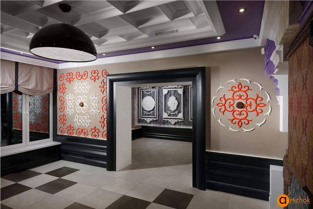 Все декоративные элементы оформлены в одном стиле и гармонично сочетаются друг с другом от Artichok Design Эклектичный