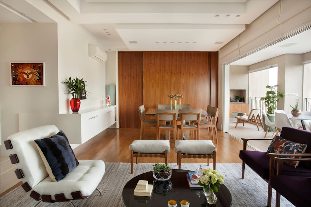 Modern Living Room by andrea carla dinelli arquitetura Modern Wood Wood effect