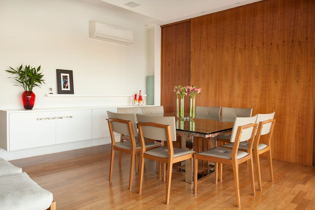 Modern Dining Room by andrea carla dinelli arquitetura Modern Wood Wood effect