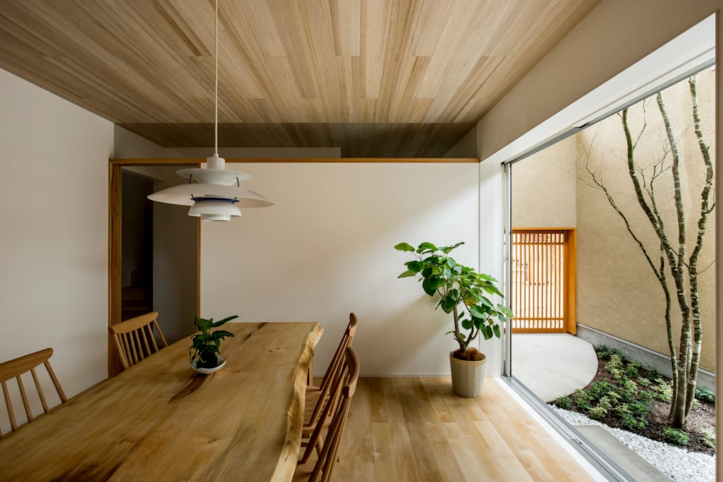 Salle à manger moderne par HEARTH ARCHITECTS/ハース建築設計事務所 Moderne