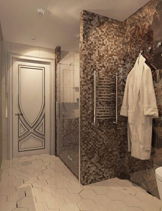 ванная В СТИЛЕ АРТ ДЕКО: Ванные комнаты в . Автор –  Студия дизайна интерьера в Симферополе M-projection
