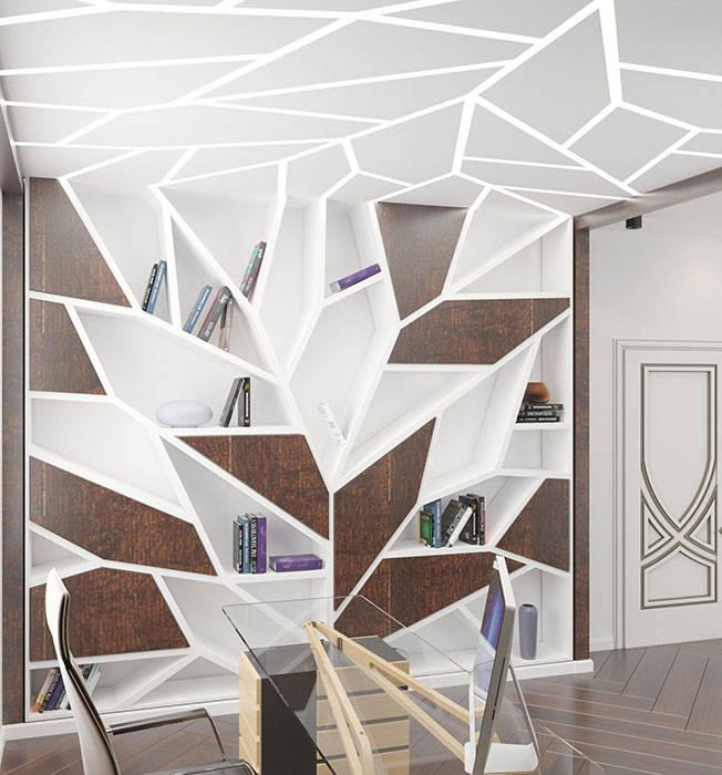 комната В СТИЛЕ АРТ ДЕКО: Рабочие кабинеты в . Автор –  Студия дизайна интерьера в Симферополе M-projection