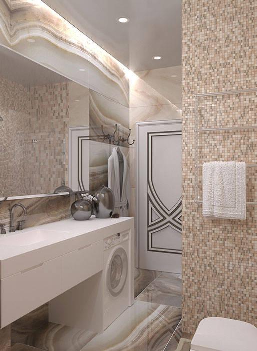 ванная комната В СТИЛЕ АРТ ДЕКО: Ванные комнаты в . Автор –  Студия дизайна интерьера в Симферополе M-projection
