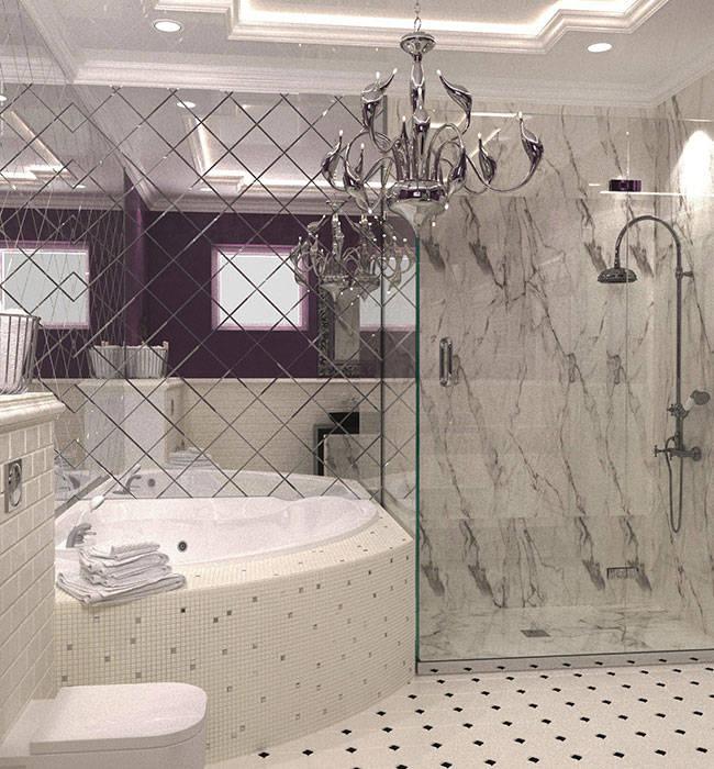 санузел В СТИЛЕ АРТ ДЕКО: Ванные комнаты в . Автор –  Студия дизайна интерьера в Симферополе M-projection