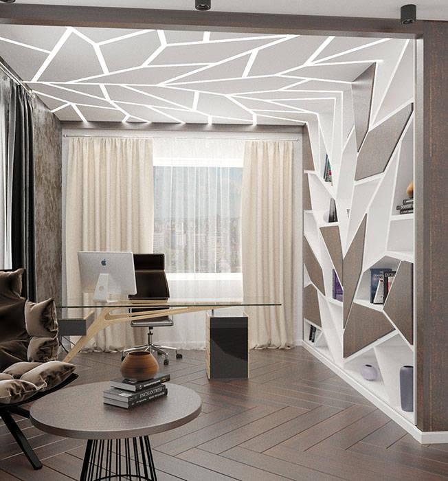 кабинет В СТИЛЕ АРТ ДЕКО: Рабочие кабинеты в . Автор –  Студия дизайна интерьера в Симферополе M-projection