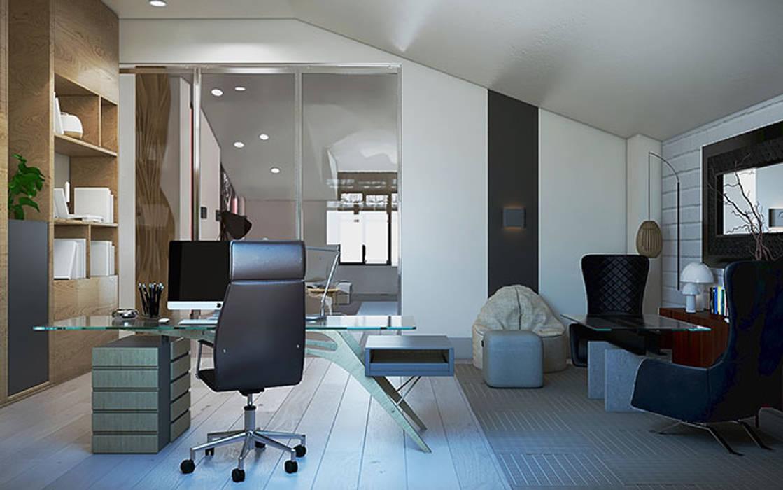 рабочий кабинет для мужчины: Рабочие кабинеты в . Автор –  Студия дизайна интерьера в Симферополе M-projection
