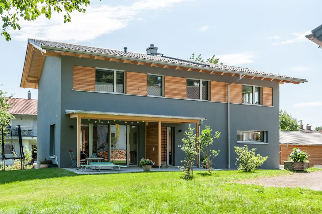 Passive house by Architekturbüro Schaub, Modern