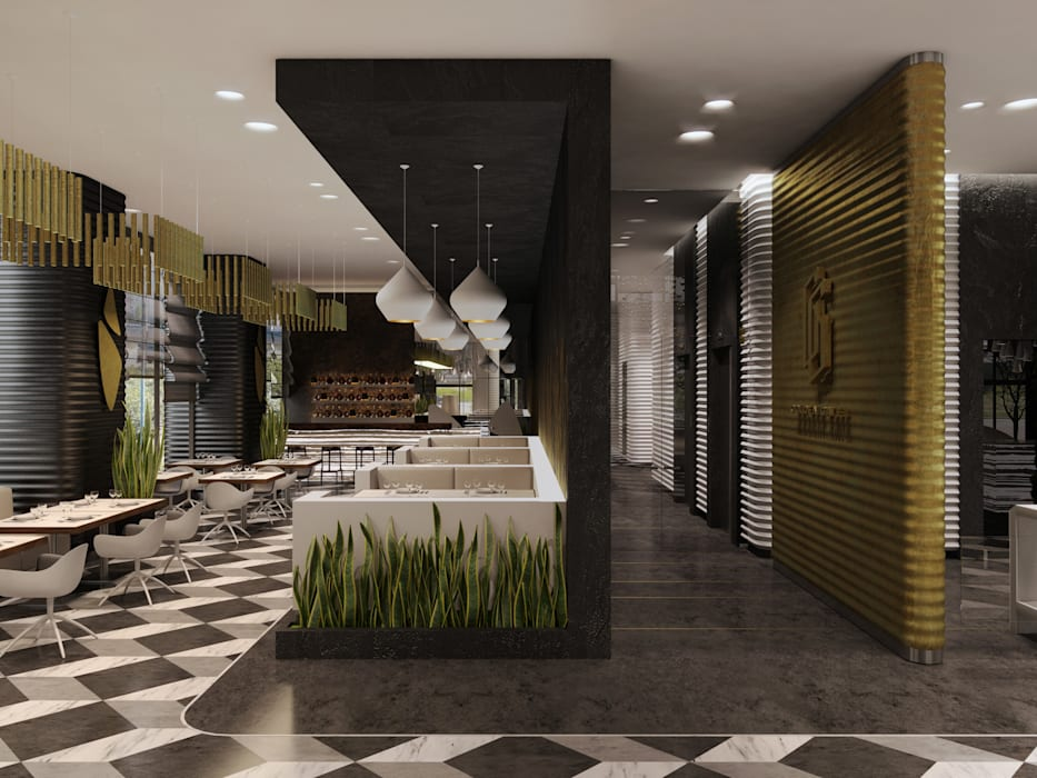 «Golden Gate»: Ресторации в . Автор – Wide Design Group, Минимализм