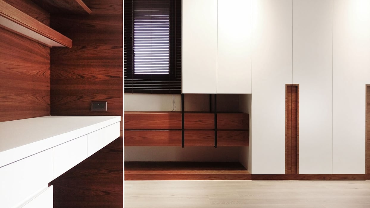 量體分割:  臥室 by 見和空間設計