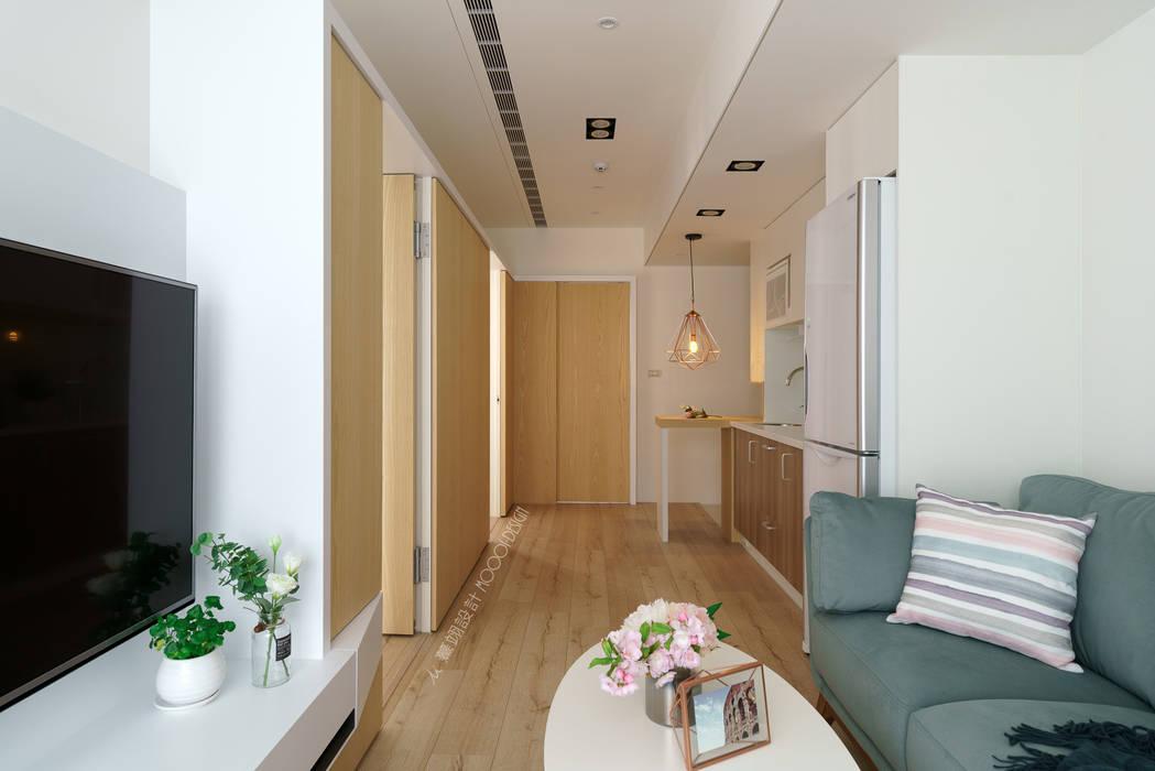 客廳 Moooi Design 驀翊設計 斯堪的納維亞風格的走廊,走廊和樓梯