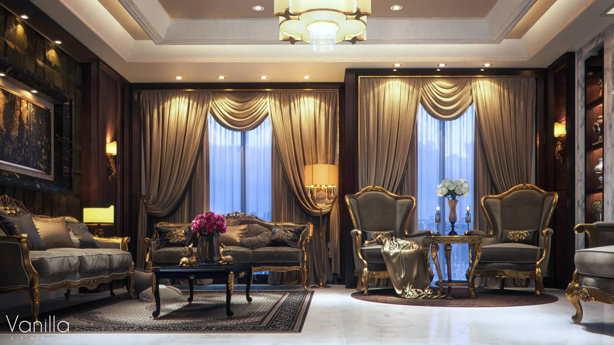 غرفة المعيشة تنفيذ Vanilla Studio,