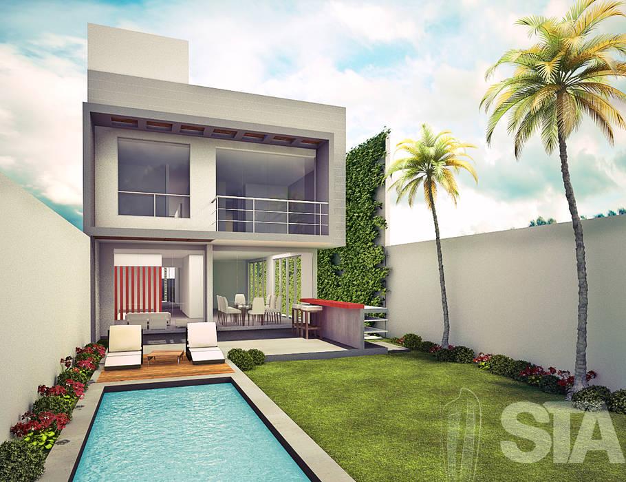 : Jardines de estilo  por Soluciones Técnicas y de Arquitectura ,