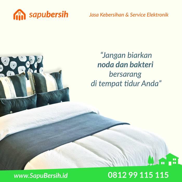 Cuci kasur paling bersih di kota Bandung Kamar Tidur Gaya Asia Oleh SapuBersih.id Asia Kayu Wood effect