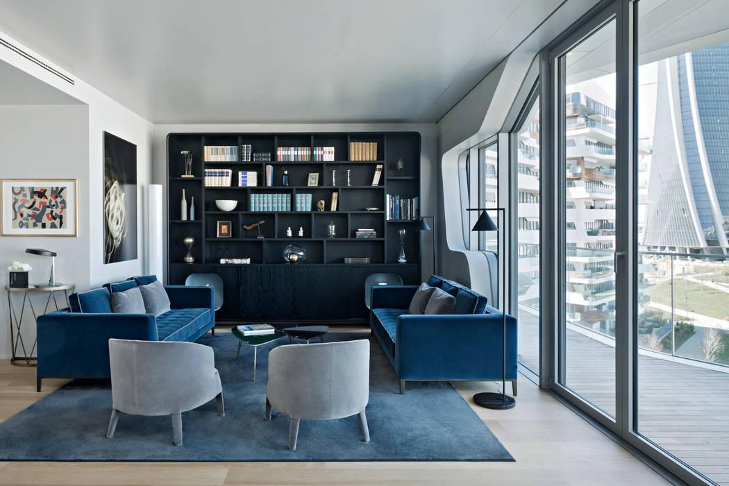 Apartment Citylife Milano: Soggiorno in stile in stile Moderno di PAOLO FRELLO & PARTNERS