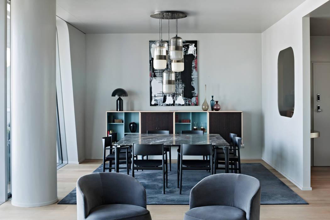 Apartment Citylife Milano: Sala da pranzo in stile in stile Moderno di PAOLO FRELLO & PARTNERS