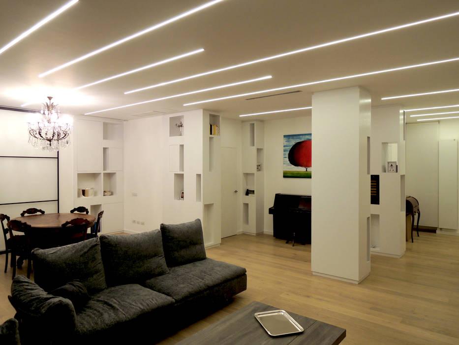 La casa di luce soggiorno in stile di ginardi arredamenti for Ginardi arredamenti