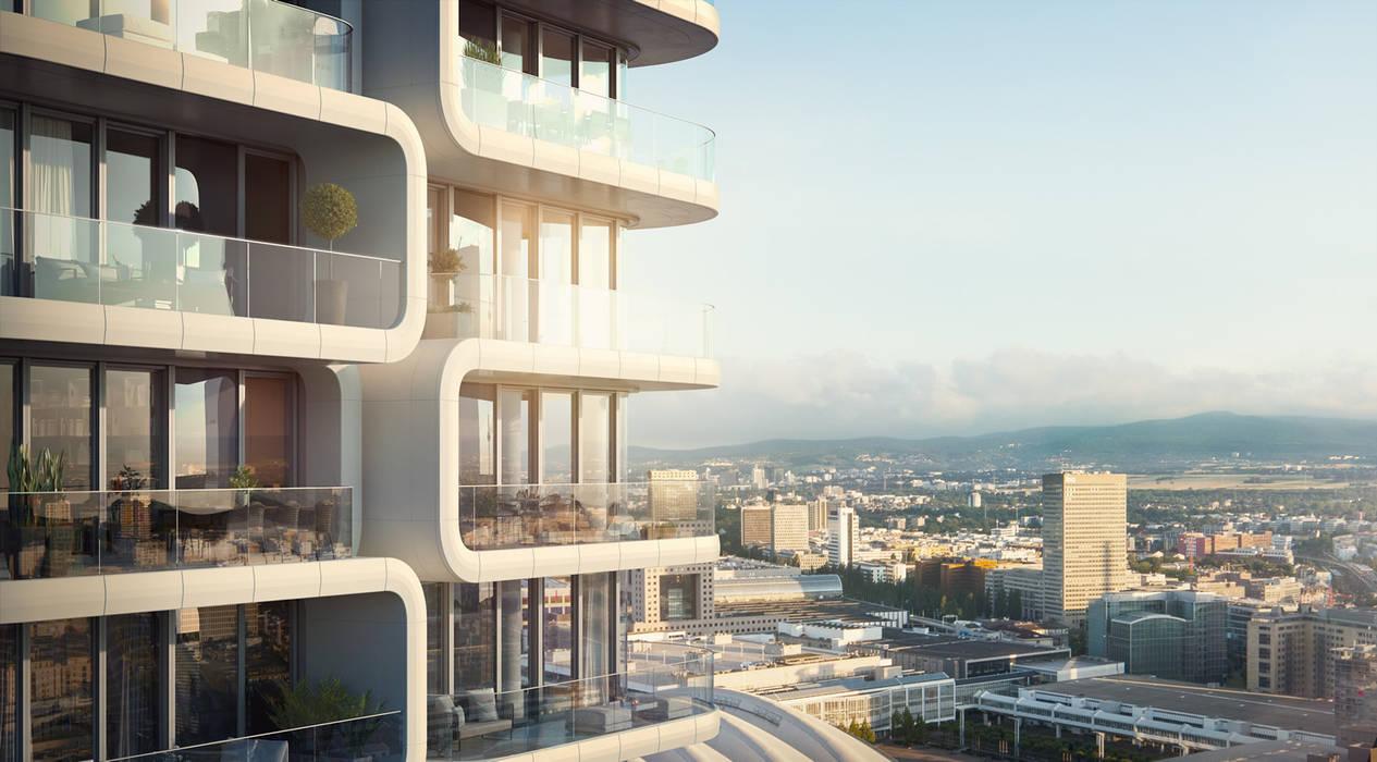 Luxuriöse 3-Zimmer-Wohnung im Grand Tower, Frankfurt:  Mehrfamilienhaus von JLL Residential Development
