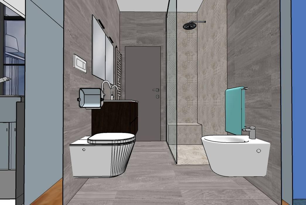 Bagno: Bagno in stile in stile Moderno di INTERNO 75