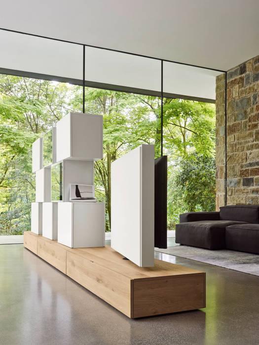 Design tv bücherregal raumteiler: wohnzimmer von livarea   homify