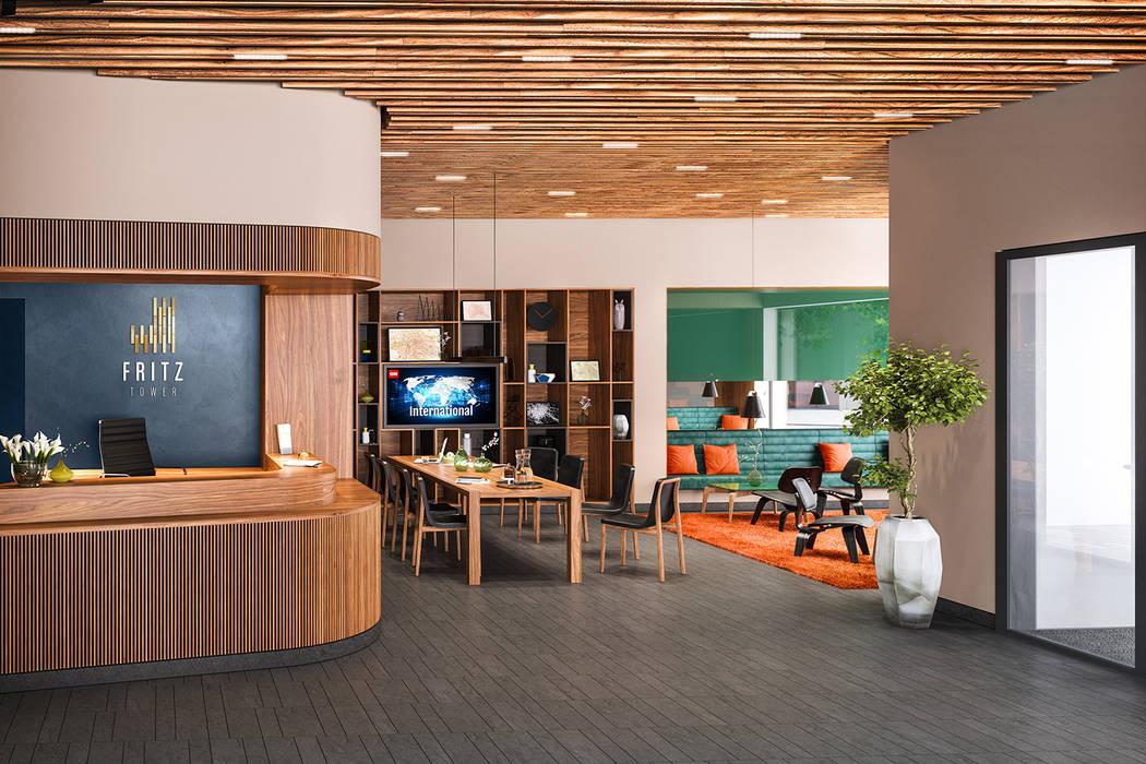 Fritz Tower - Mikroapartments in Berlin-Mitte: moderne Arbeitszimmer von JLL Residential Development