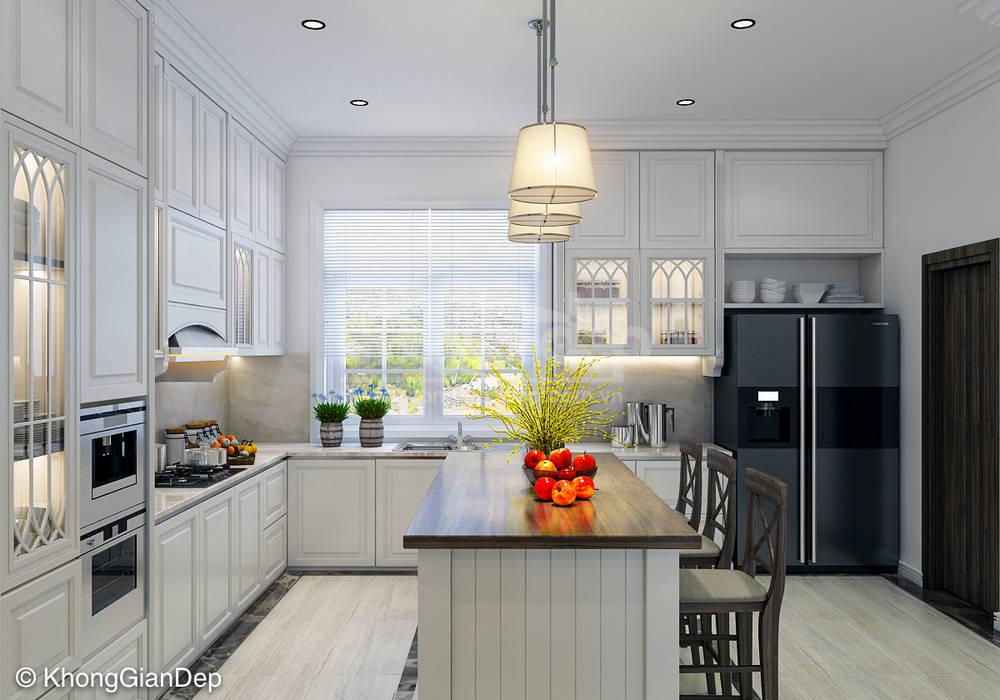 Phòng bếp:  Nhà bếp by Công ty cổ phần đầu tư xây dựng Không Gian Đẹp , Bắc Âu