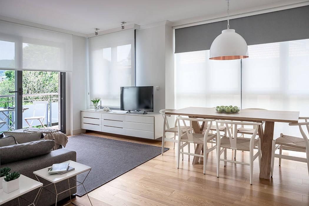 Sal n comedor muy luminoso con terraza y vistas al jard n - Interiorismo salon comedor ...