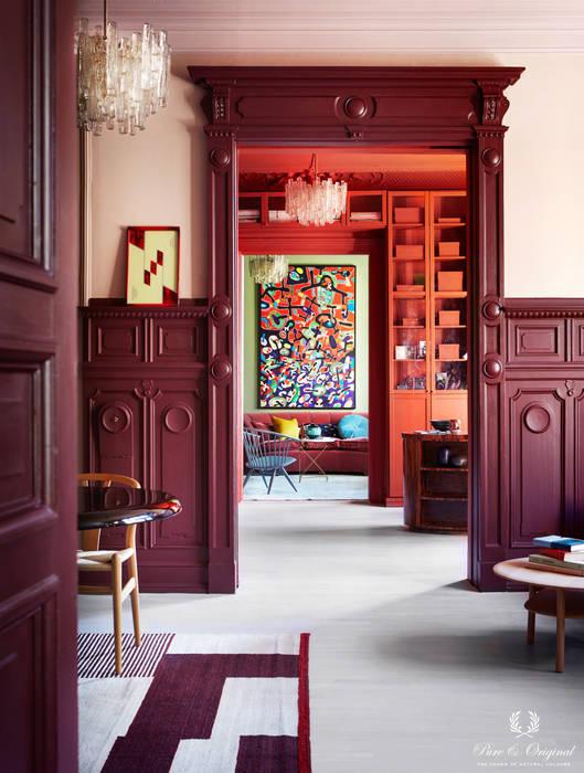 Doorkijkje met Licetto Old Wine, krijtverf Skin Powder, Traditional Paint Brown-Red en krijtverf Landscape Pure & Original Moderne muren & vloeren